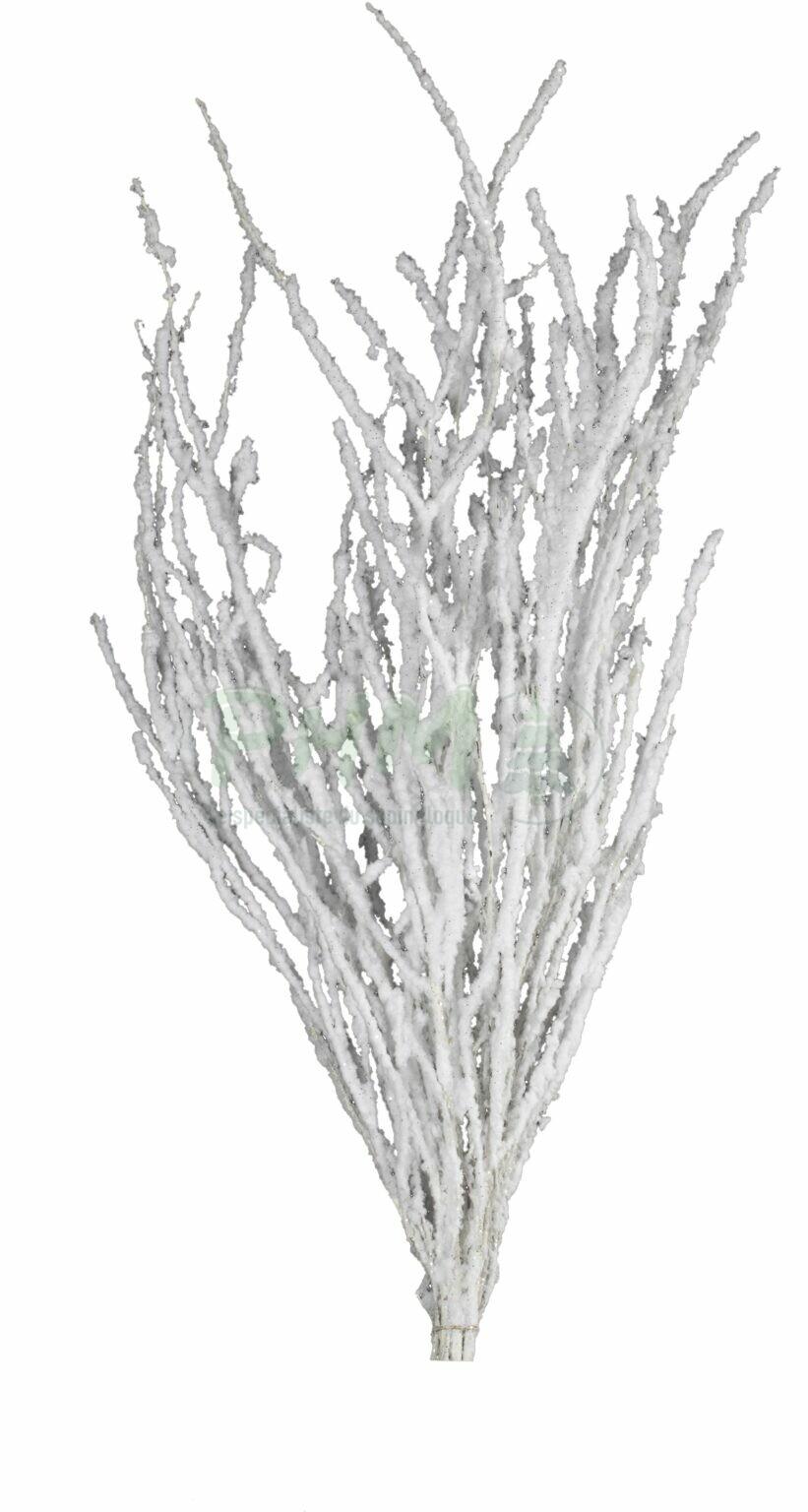Bouleaux floqués blanc
