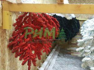 branches floquées rouges